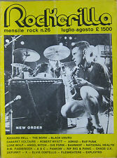 ROCKERILLA 26 1982 New Order Richard Hell Robert Wyatt Banhof Defunkt Chaos UK