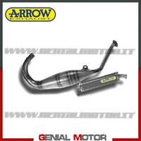 Full Exhaust Arrow Round Sil Carbon Aprilia Rs 125 Replica 1995 > 2014
