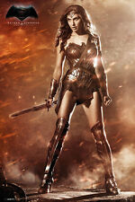 BATMAN vs SUPERMAN (WONDER WOMAN) POSTER featuring Gal Gadot (24x36)