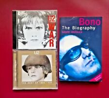 3 U2 Items-Best of 1980-1990 / War (CD's) /Bono-the Biography P/B (Laura Jackson