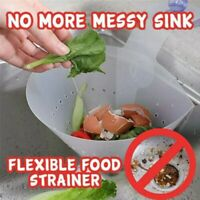 Kitchen Drain Sink Strainer Filter Food Catcher Foldable Anti-Blocking Tool JT
