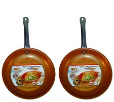 Copper Frying Pan 10.5 inch Non Stick Ceramic Induction Base Buy 1 Get 1 Free