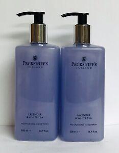 2 Bottles Pecksniff's ~ Lavender & White Tea Moisturizing Hand Wash 16.9 oz Each