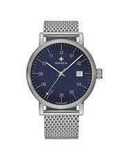 Swiza Men's WAT.0141.1011 Alza 40mm Blue Dial Stainless Steel Mesh Watch