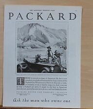 1921 magazine ad for Packard - rancher and cowboy, best in American manufacture