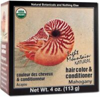 Natural Hair Color & Conditioner Mahogany by Light Mountain, 4 oz