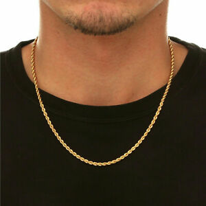 . 2.40 Gms to 4.15 Gms 18K SOLID GOLD ROPE CHAIN 2MM NEW!!