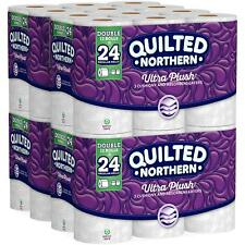 Pack of 48 Double Rolls Quilted Northern Ultra Plush Toilet Paper New Stock