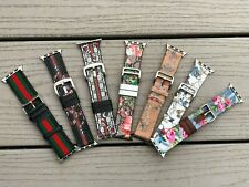 IWatch Band  leather &flower pattern  Apple Watch Series 5/4/3/2/1 38/40/42/44MM