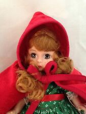 "Madame Alexander 8"" Red Velvet Moving Brown Eyes Riding Hood Doll"