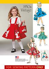 SEWING PATTERN! MAKE GIRLS POODLE JUMPER~BAG~SKIRT! 50'S VINTAGE STYLE! SIZE 3~8