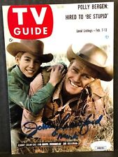 """JOHNNY CRAWFORD """"THE RIFLEMAN"""" SIGNED 5X7 TV GUIDE PHOTO  AUTHENTIC JSA REPRINT"""