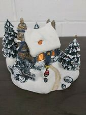 Thomas Kinkade Stonehearth Hutch Light-Up Christmas Village Cottage Statue