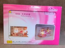DIY Miniature House Room Kit LED Perfect Wedding G006