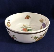 Vintage Royal Worcester Evesham Gold Large Fruit Salad Serving Bowl 25.5cm 10""