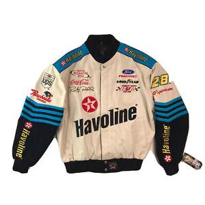 RARE NWT RICKY RUDD #28 Texaco Havoline Racing Jacket NASCAR Winston Cup VTG M