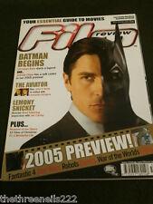 FILM REVIEW - CHRISTIAN BALE BATMAN BEGINS - JAN 2005