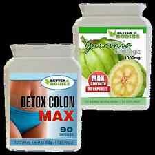 Pilules Amincissantes X90 GARCINIA CAMBOGIA 1000mg + Detox Colon Cleanse