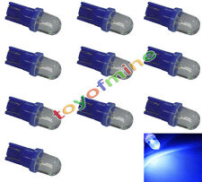 10x LED T10 W5W 501 194 168 Sidelight Wedge Ampoule Super Bright Bleu DC 12V