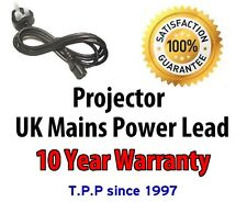GENUINE UK Power Lead Mains Cable Projector Epson Sony Canon Dell Hitachi Ket