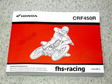 HONDA CRF 450 R , 2002 - 2003 , Werkstatthandbuch , Owners Maintenance Manual !