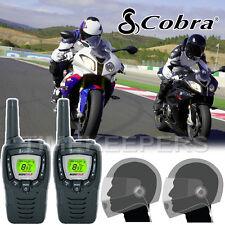 Cobra MT645 Motorbike Walkie Talkie Radio Intercom 2 PTT Close Face Headsets