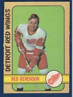 RED BERENSON 72-73 O-PEE-CHEE 1972-73 NO 123 NRMINT+ 5