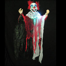 """Scary Clown Lighted Haunted House Hanging Halloween Party Prop 36"""""""