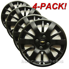 Chevy Cobalt 2005-2010 Hubcaps - Genuine GM - Custom Black Matte Paint (4-Pack)