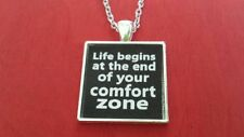 BDSM JEWELRY QUOTES Necklace  * Life begins at the end of your comfort zone