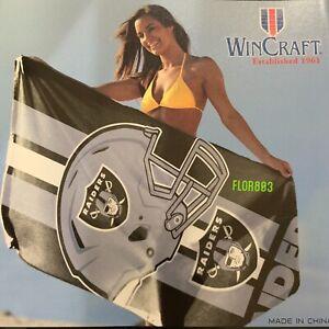 "NFL Oakland Raiders Officially Licensed Beach /Bath Towel 30""x 60""-wincraft"