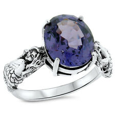 Sterling Silver Ring Size 10, #812 Mermaid Color Changing Lab Alexandrite .925
