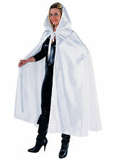 Deluxe WHITE  Satin Hooded Cloak/Cape - GOTHIC / WEDDING ETC