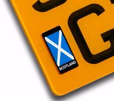 Scotland Scottish Saltire Number Plate Vinyl Sticker For Motorcycle decal badge