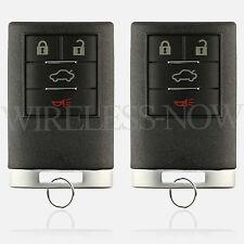 2 Car Key Fob Keyless Entry Remote 4B 2008 2009 2010 2011 Cadillac STS