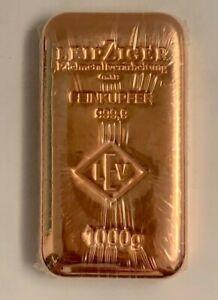 1 Kg Kupferbarren LEV original 999,9 Feinkupfer