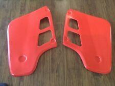 Honda CR500 Radiator Shrouds 1986 To 1988 New Reprod Plastic Flash Red