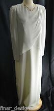 VTG Ursula of Switzerland Chiffon Formal Draping Dress Silver Long Gown SZ 11 12