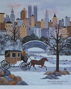 "Jane Wooster Scott ""Manhattan Wonderland"" Hand signed Limited Edition Lithograph"