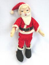 Vintage Santa Holiday Fair Doll Poseable Bendy Chenille Cloth Japan Hedaya & Co