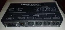 More details for 4 way optical isolated dmx splitter amplifier xlr and  rj45  uk seller