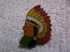 Cleveland Indians Stadium Lapel Pin Chief - Wahoo - Vintage Sunoco RARE