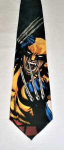 RARE NWT VINTAGE 1997 MARVEL COMICS WOLVERINE 100% Silk Neck Tie Made in USA