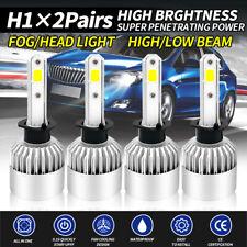 4x H1 LED Headlight Bulbs Conversion Kit 2500W 375000lm 6000K Light Bulb Lamp
