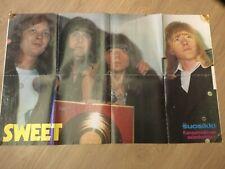 SWEET - Suosikki Magazine Folded poster FINNISH Rare w. Small Finnish poster