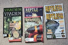 Lot of 7 Vintage Reptile Magazines - Vivarium Reptiles Usa Annual Amphibian *