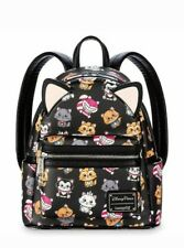New Disney Parks Loungefly Exclusive Disney Cats Mini Backpack Marie Cheshire