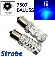 Strobe Blue Rear Turn Signal Light BAU15S 7507 PY21W 92 LED Bulb Lamp A1 LAX
