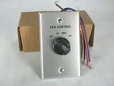 McQuay Group 382557B-00 Wall Mount 3-Speed Fan Speed Control Switch (Qty 1) NEW