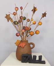 Fall Jug with berries and leaves - New resin block by Blossom Bucket #80486